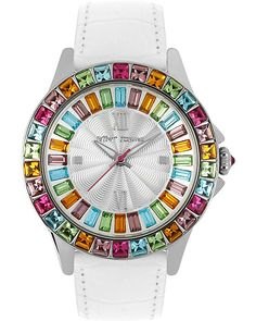 MULTI COLOR CRYSTAL WATCH MULTI accessories jewelry watches fashion