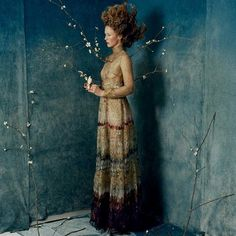 In the September issue of @voguemagazine a candid editorial featuring model @raquel_zimmermann in a #FallWinter1516 dress. Photo by Tim Walker.