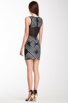 Chevron Print Bandage Dress