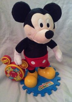 "Disney Mickey Mouse Clubhouse Spanish Singing Dancing 13.5"" Plush Standing Doll  #Mickey #DancingSingingMickeyMouse #MickeyMouseClubhouse"