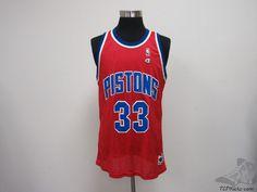 Vtg 90s Champion Detroit Pistons Grant Hill # 33 Basketball Jersey sz 48 NBA #Champion #DetroitPistons #tcpkickz