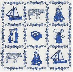 Oud-Hollandse tegel, Delfts blauw