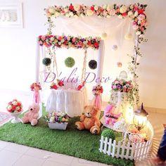 Pelamin Cradle for majlis buaian berendoi, cukur jambul dan aqiqah Theme english garden