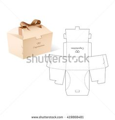 Stock Images similar to ID 393866485 - vector die cut envelope...