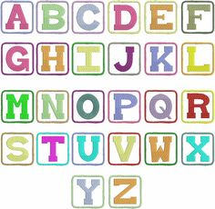 Free Fonts Letters Inside Squares
