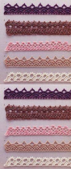 New Crochet Bookmark Pattern Hooks Ideas Crochet Boarders, Crochet Edging Patterns, Crochet Lace Edging, Crochet Motifs, Crochet Trim, Crochet Doilies, Crochet Stitches, Knitting Patterns, Marque-pages Au Crochet
