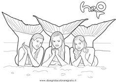 mako einfach meerjungfrau ausmalbilder kostenlos | kinder