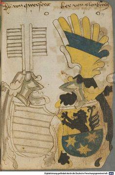 Ortenburger Wappenbuch Bayern, 1466 - 1473 Cod.icon. 308 u  Folio 49r