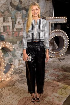 Gigi Hadid's best red carpet and street style looks: Chanel Dinner Celebrating No5 The Film by Baz Luhrman in New York City, October 2014