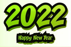 Free Happy New Year 2022 Green Background Vector