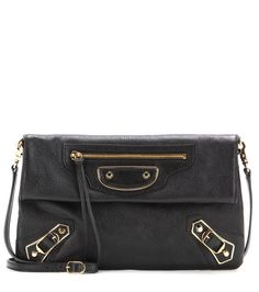 b75120a980f1 Balenciaga - Classic Metallic Edge Envelope leather shoulder bag - Finish  your look on an iconic