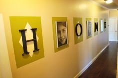 cool idea to fill up wall in dining room
