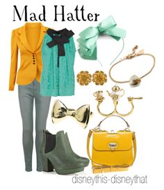beautiful shades of blues and yellows in this Mad Hatter