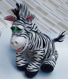 fondant zebra figure