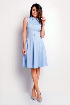 Rochie de zi Foggy FG3_BLUE_els albastru