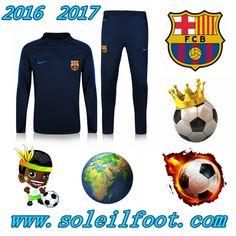 Homme: Nouveau Survetement Du FC Barcelone Bleu Marine Saisson 16 17