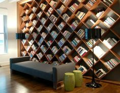 Awesome criss cross bookshelf