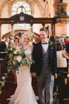 Rustic wedding bouquet - An English wedding in Merseyside by Kanashay Photography (13)