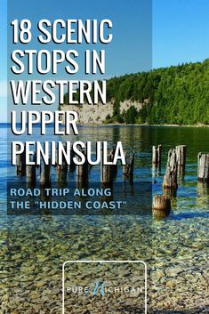 """18 Stops for a Scenic Road Trip in the Upper Peninsula The Upper Peninsula's """"Hidden Coast"""" is a shore-hugging scenic drive that takes you from the bays of Lake Michigan to the crossroads of the U. at Escanaba. Lake Michigan Vacation, Michigan Vacations, Michigan Travel, Vacation Trips, Summer Vacation Ideas, Camping Michigan, Vacation Movie, Mini Vacation, Texas Travel"""