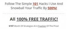 DIMESALE: 500% FREE TRAFFIC - Traffic Snowball Avalanche