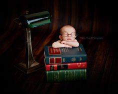 Newborn Photography Newborn Law book Newborn glasses