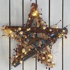 A few accent pieces not only add the right personality, but choose a few that add light as well, and you've got a bright idea. Hang a decorative #lit #barn #star on your front porch or scatter a few LED candles in patriotic colors to a side table to add instant ambiance.