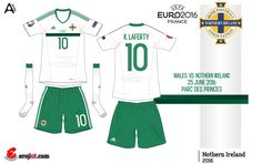 Northern Ireland away kit for Euro 2016.
