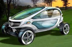 Mercedes releases high tech golf cart to rival all others - shouldn't every girl have one of these?