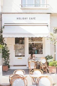 Outdoor Cafe Seating Coffee Shop Paris France 39 Ideas For 2019 Deco Restaurant, Restaurant Seating, Outdoor Restaurant, Modern Restaurant, Cafeteria Paris, Café Exterior, French Exterior, Exterior Signage, Art Café