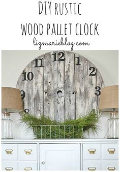 DIY rustic wood pall