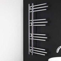 Sèche-serviettes électrique design chromé Rubin 400W, 100x50 cm