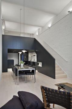 Diseño de interiores de apartamento moderno