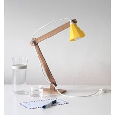 Johan wooden table lamp (1.706.865 IDR) ❤ liked on Polyvore featuring home, lighting, classic, scandinavian design lamps, scandinavian design, product design, minimalist design, laser cut, handmade and geometric lighting collection