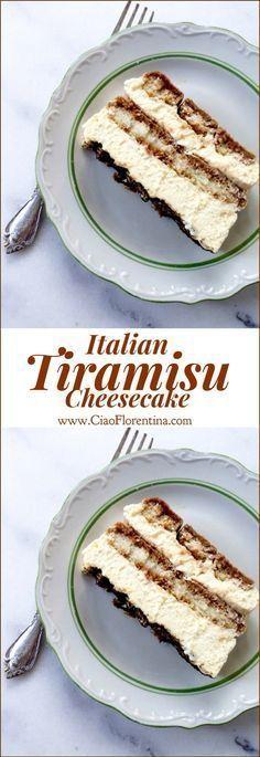 Italian Tiramisu Cheesecake Recipe | http://CiaoFlorentina.com @CiaoFlorentina