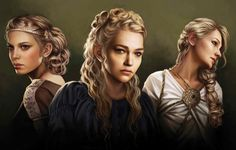 """The World of Ice and Fire - The sisters of King Baelor I (l to r): Elaena, Rhaena, and Daena Baelor went further by placing Daena and her younger sisters Rhaena and Elaena into their own """"Court of Beauty"""" within the Red Keep"""