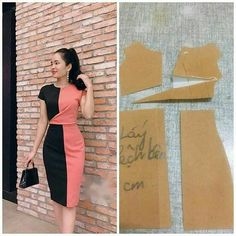 No photo description available. Dress Sewing Patterns, Clothing Patterns, Sewing Clothes, Diy Clothes, Pattern Draping, Fashion Sewing, Pattern Fashion, Women's Fashion Dresses, Designer Dresses
