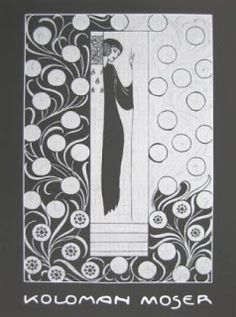 Poster by Viennese designer Koloman Moser, Mela's teacher an influential modernist. Floral Illustrations, Illustration Art, Bauhaus, Koloman Moser, Pop Art, Art Nouveau Poster, Vienna Secession, Charles Rennie Mackintosh, Street Art
