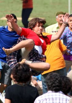 """It is Adam Sandler playing soccer when filming """"Jack and Jill"""" in Los Angeles, October 14, 2010."""