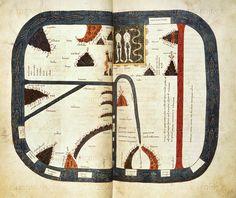 Beatus. world map Silos Apocalypse. Spain (Silos), 1109. Add. 11695 ff.39v.-40