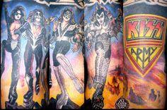 ~KISS~ Kiss Tattoos, Tatoos, Amazing Tattoos, Cool Tattoos, Kiss Art, Hot Band, Gene Simmons, Banners, Tatting