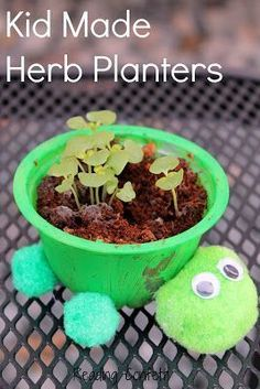 Fun Earth Day Crafts and Activities for Kids A fun way to make herb planters from recycled materials