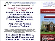 very good Property Tax Appeal Guide to Lower Property Taxes.