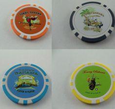 Tommy Bahama Poker Chip Golf Ball Marker 1 Relax Marlin Cart Parrot Cigar Bag | eBay