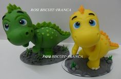 Dinosaur Cake Toppers, Dino Cake, Dinosaur Birthday Cakes, Dinosaur Party, The Good Dinosaur Cake, Baby Dinosaurs, Homemade Toys, Fondant Figures, Cold Porcelain
