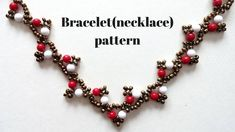 Handmade jewelry. Easy beading pattern for bracelet(necklace)