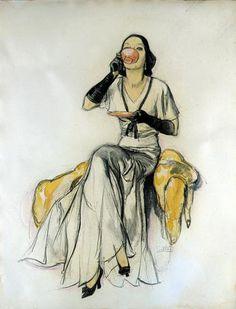 "John LaGatta (1894-1977) - Teacup Girl, ""American Magazine"" cover, April 1931"