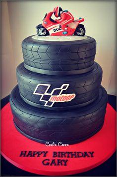 Moto GP cake - Cake by Ceri's Cakes