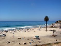 Moonlight Beach in Encinitas is a few miles north of San Elijo State Beach. A family friendly beach that is wide and sandy. perfect for a day trip.