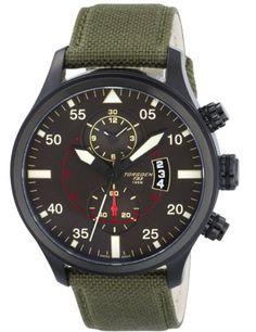 47888b3c55e Torgoen Swiss Men s Quartz Watch with Black Dial Chronograph Display and  Green Nylon Strap T33404 Price