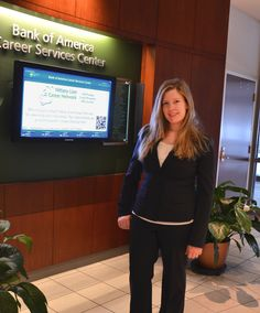 2/5/13 -- Ashley Matera, Finance 2010, of Bank of America, at Penn State Career Services to conduct interviews today